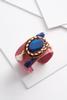 Beaded Fabric Tassel Cuff Bracelet