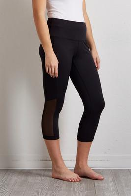 cropped mesh panel leggings