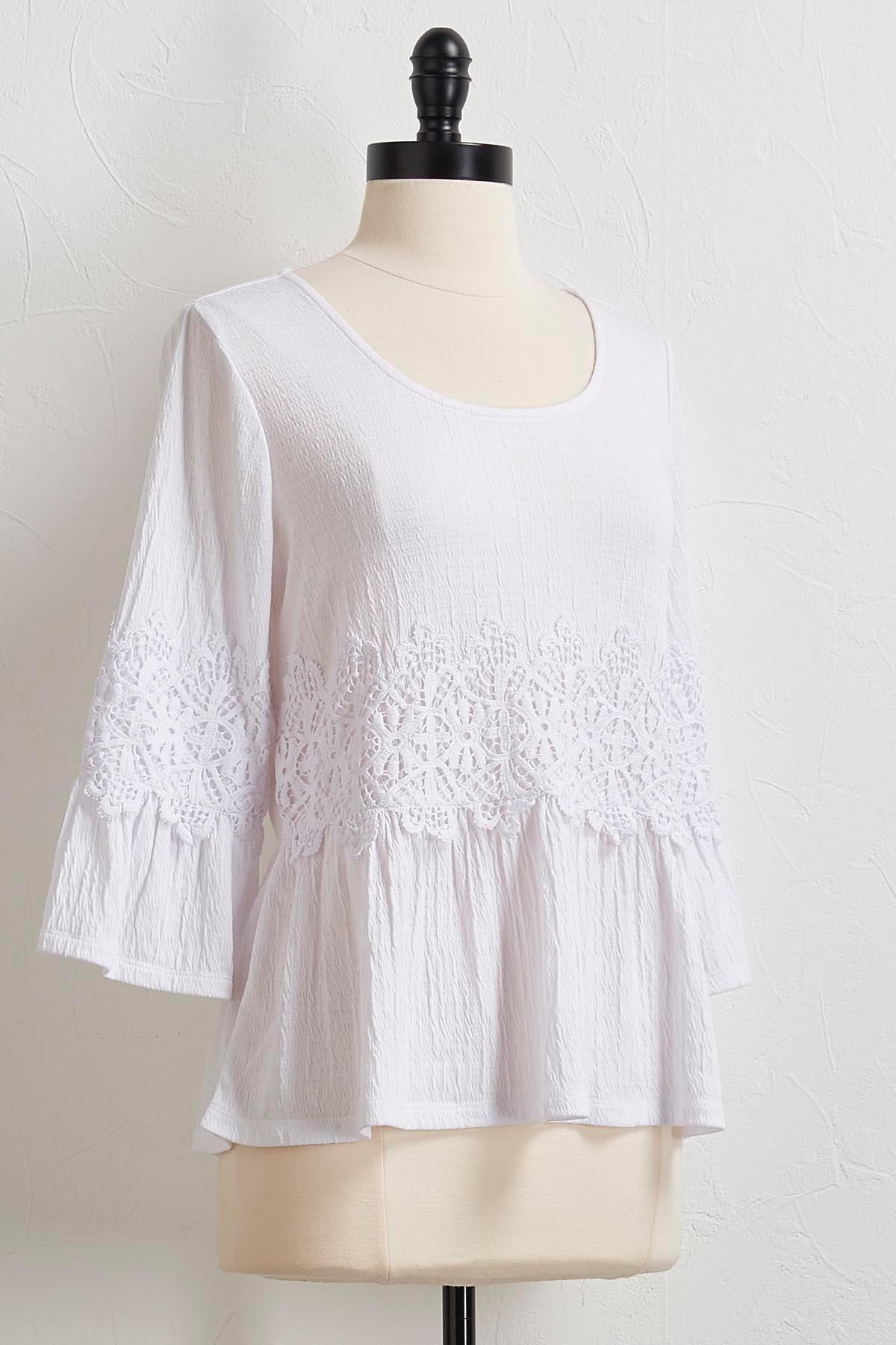 Lace Gauze Knit Top