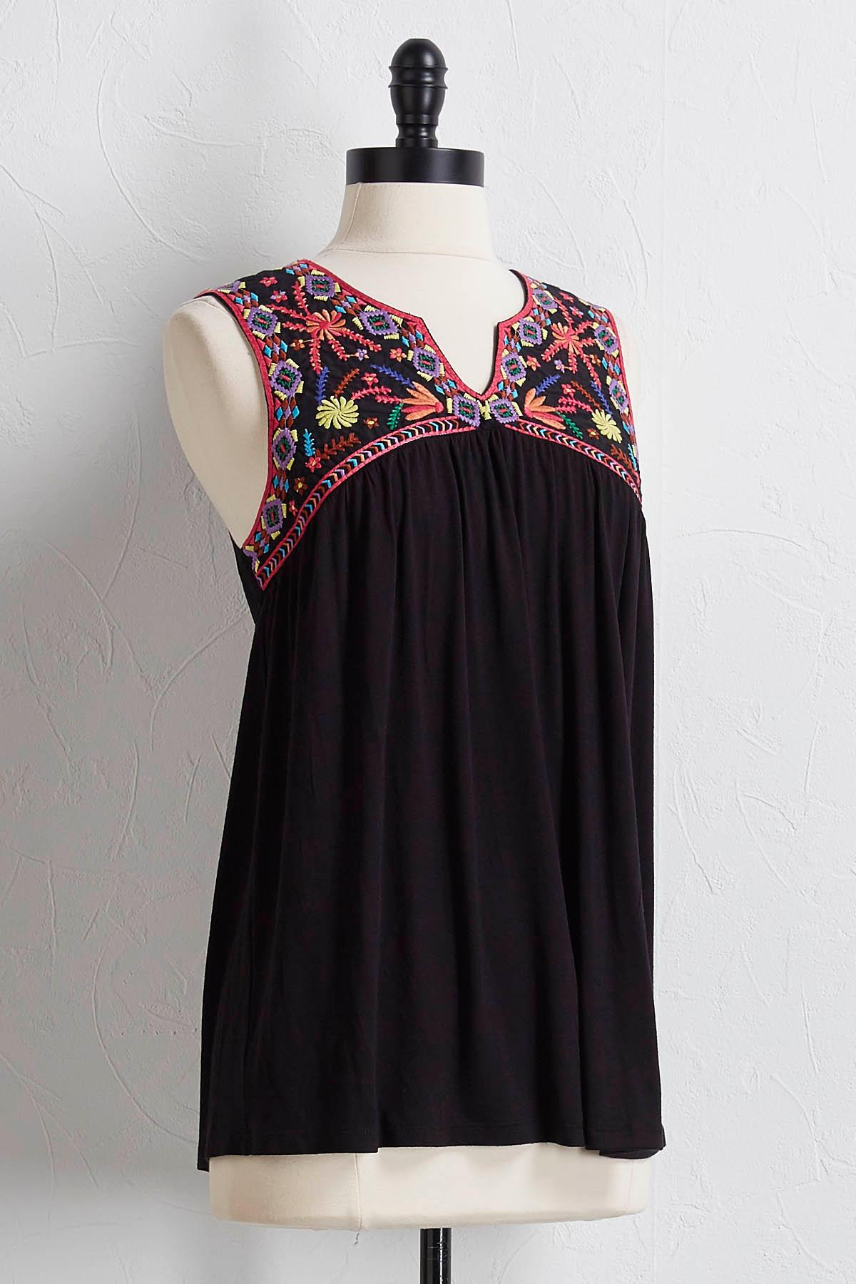 Neon Embroidered Tank