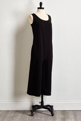 wide leg athleisure jumpsuit