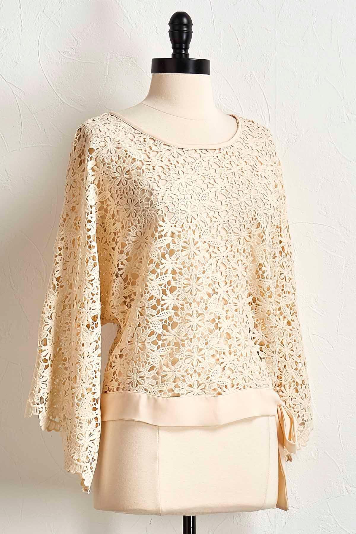 Crochet Tie Bottom Top
