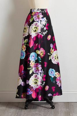 floral swing maxi skirt