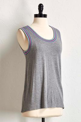 solid stripe trim tank