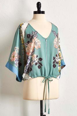 spring floral kimono jacket