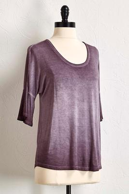 mineral wash bell sleeve top