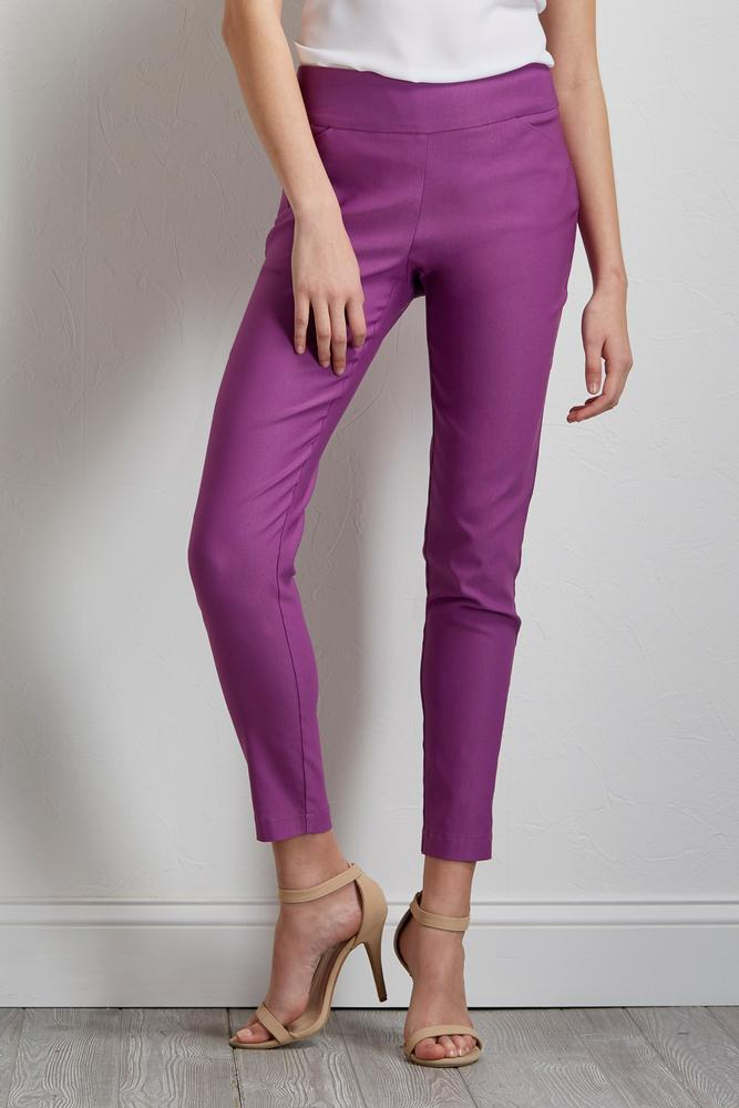 Brilliant Pull- On Ankle Pants