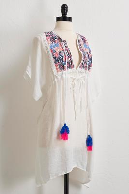 pastel embroidered cover-up