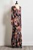 Retro Paisley Maxi Dress