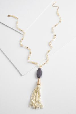 pearl tassel necklace s