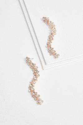 rhinestone shoulder duster earrings