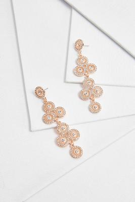 geometric pave statement earrings