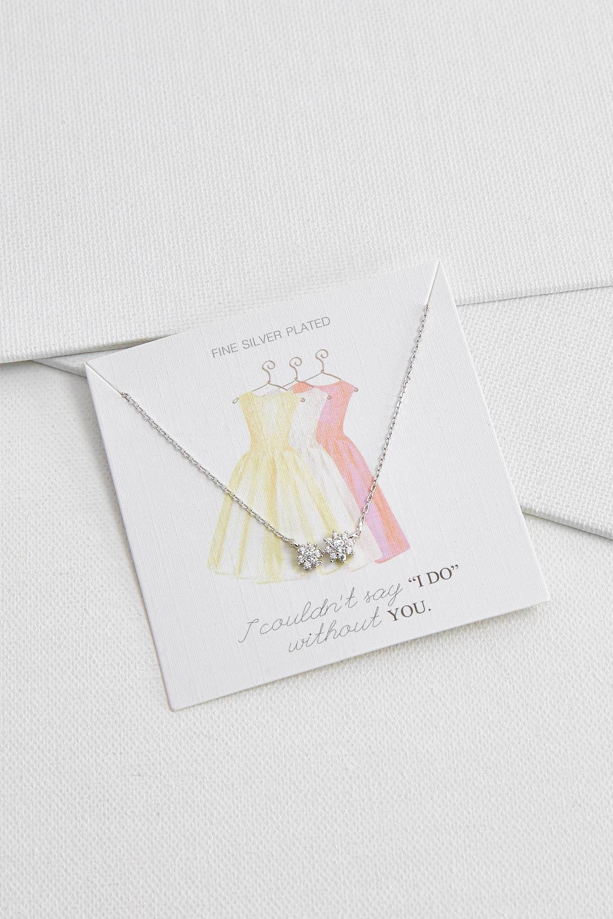 Without You Bridesmaid Necklace