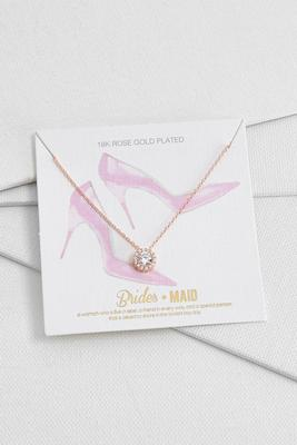rose gold bridesmaid necklace