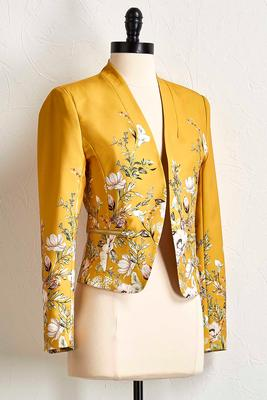 butterfly floral blazer