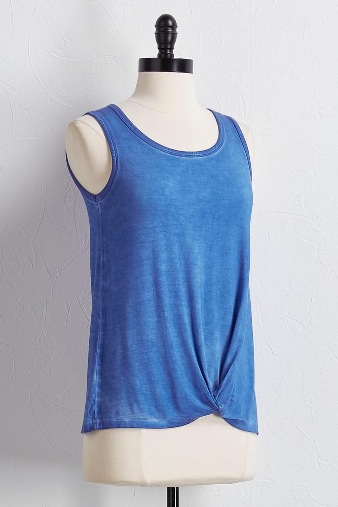 Mineral Wash Knotted Front Tank