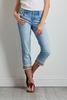 Cropped Ric Rac Embellished Jeans