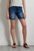 Shape Enhancing Embroidered Denim Shorts