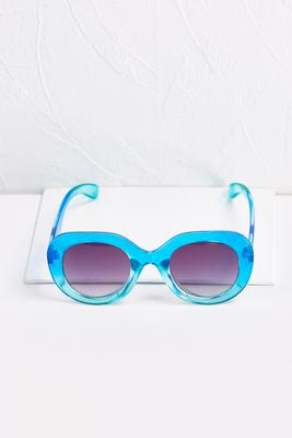 ombre blue sunglasses