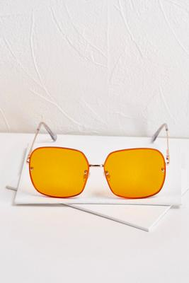 oversized orange aviators