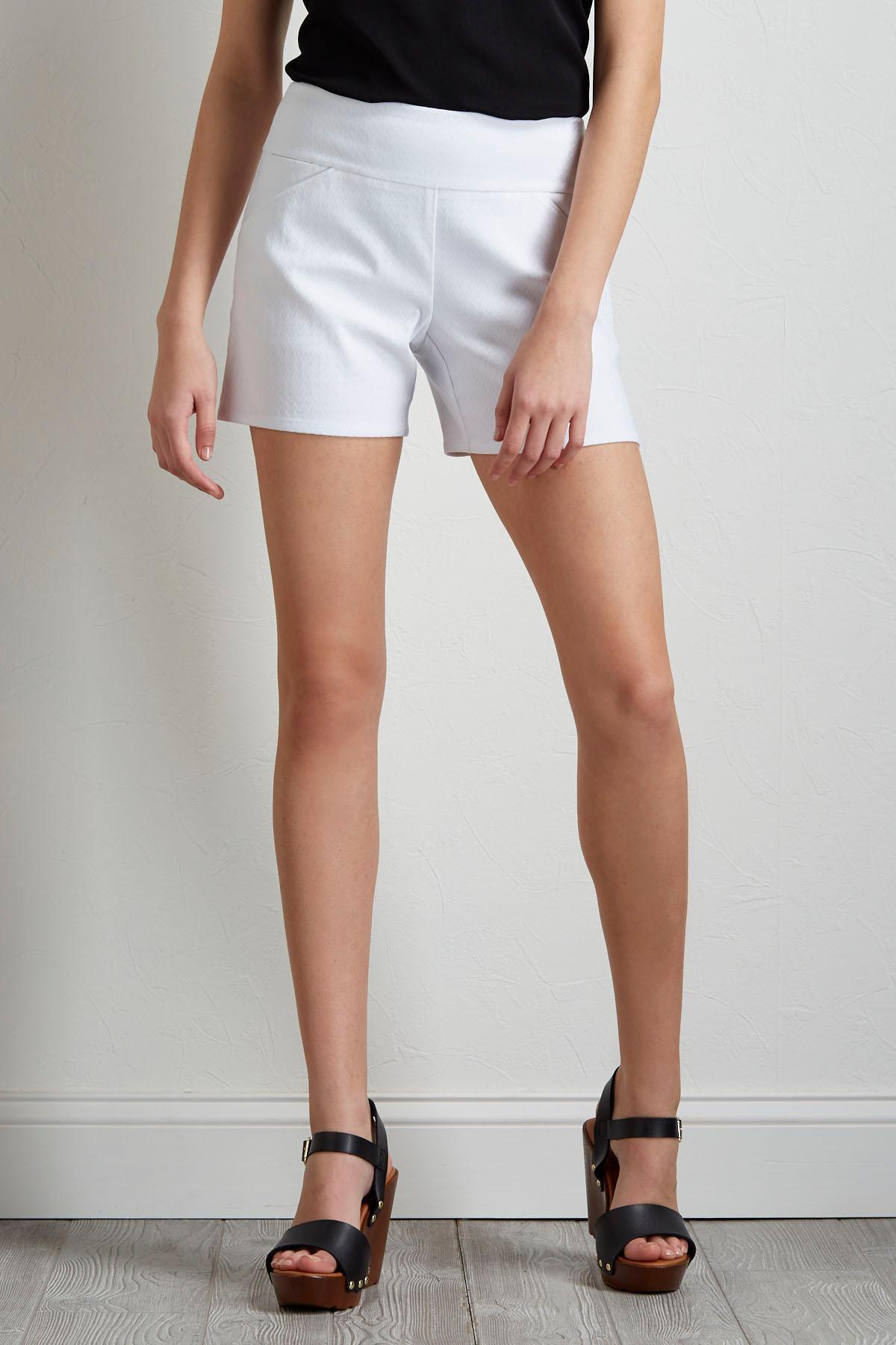 Chevron Bengaline Shorts