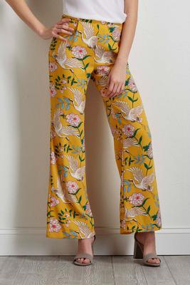crane floral palazzo pants