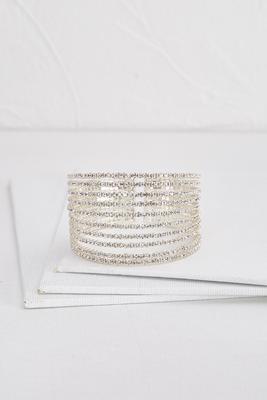 rhinestone statement cuff bracelet