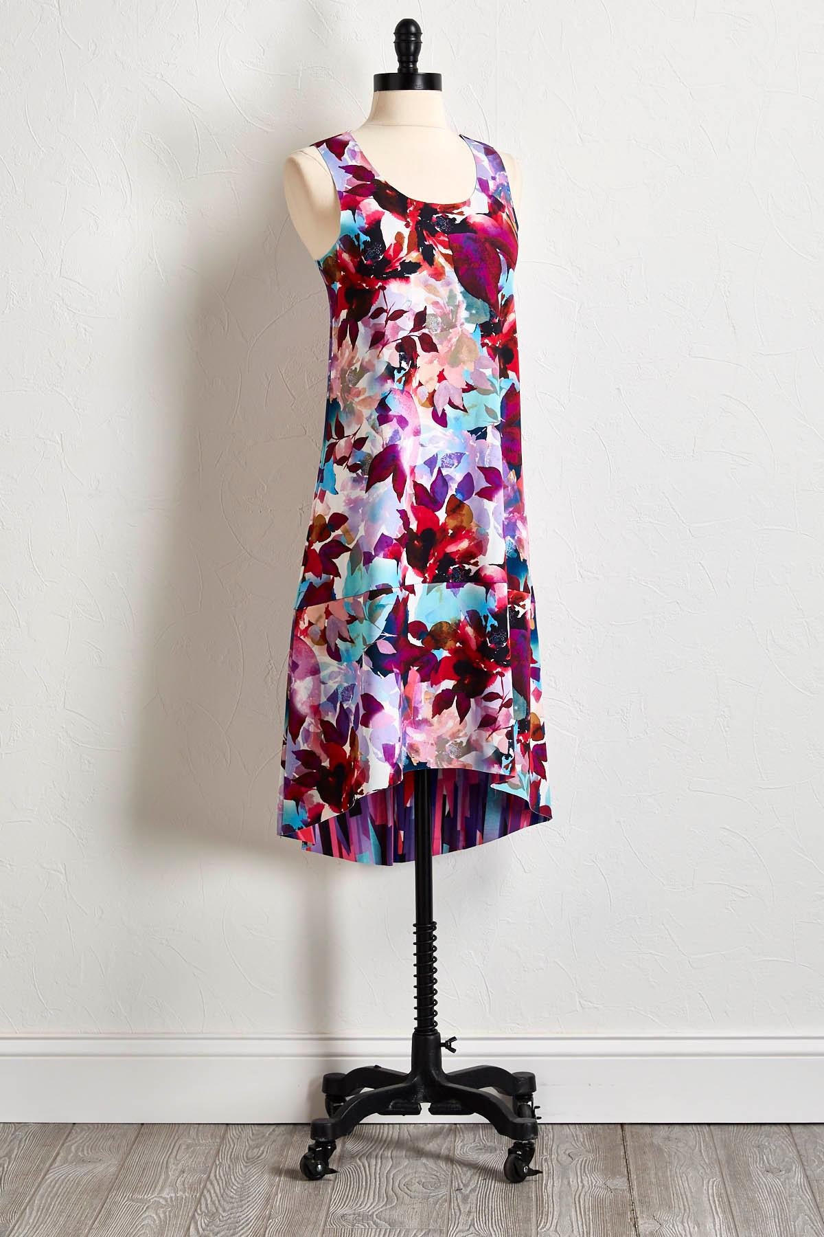 Reversible Floral Shift Dress