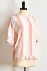 Pink Stripe Ruffled Hem Top