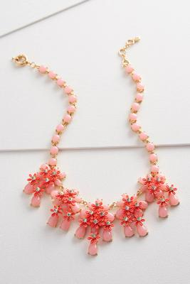 floral statement bib necklace