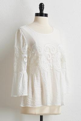 crochet paisley top