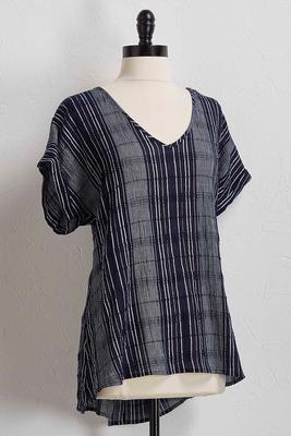 striped gauze top