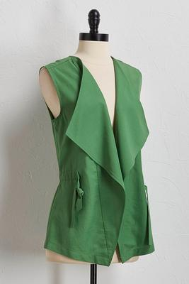 green drape utility vest