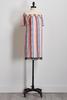 Multi- Stripe Tassel Off The Shoulder Dress