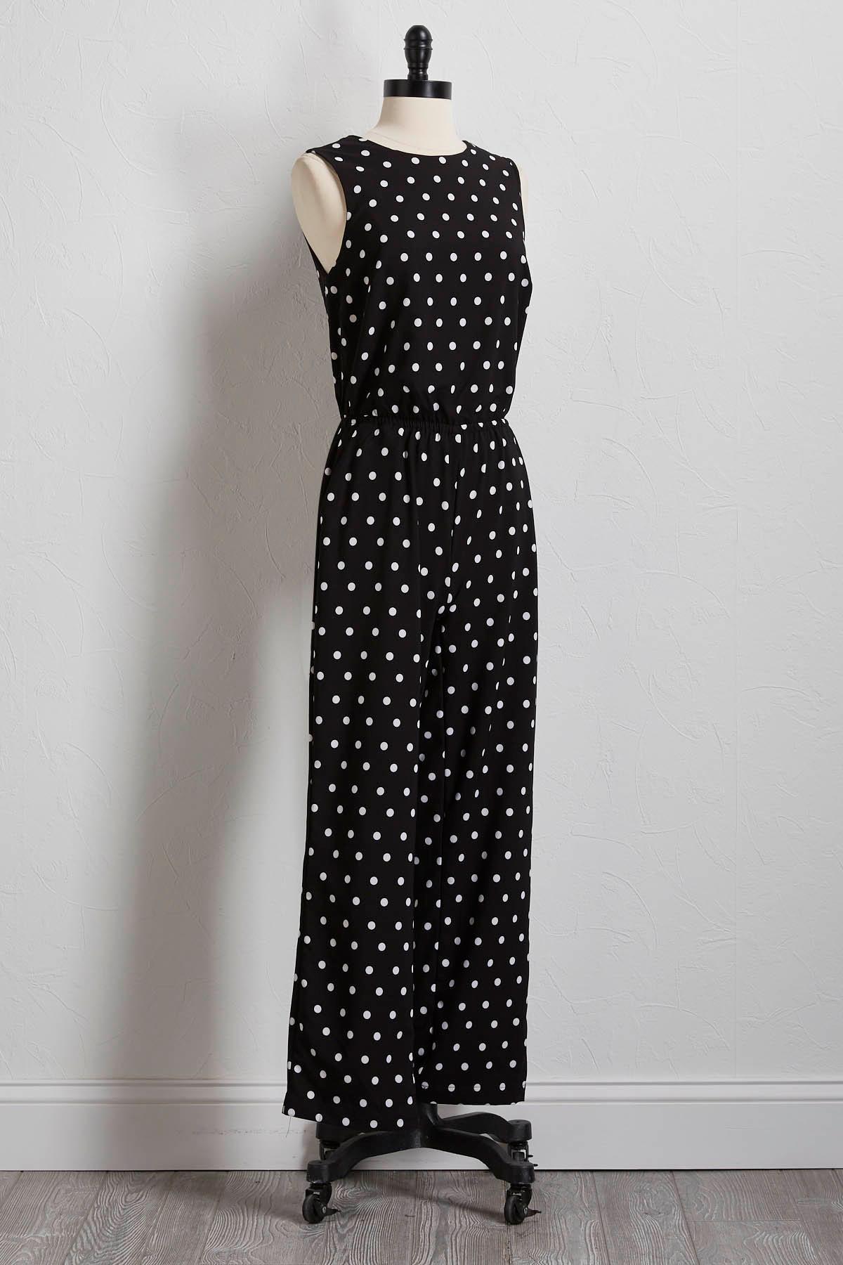 Polka- Dot Tie Back Jumpsuit