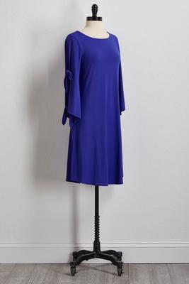 surf blue tie sleeve shift dress