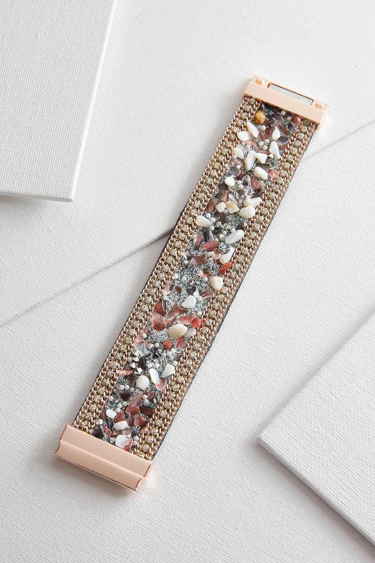 Chipped Stone Magnetic Bracelet