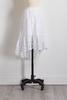White Eyelet High- Low Ruffle Skirt