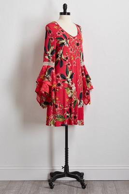 island floral shift dress