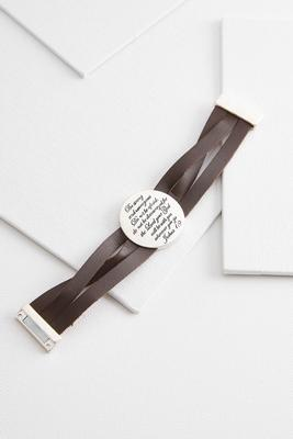 inspirational leather bracelet