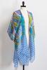 Mixed Floral Print Kimono