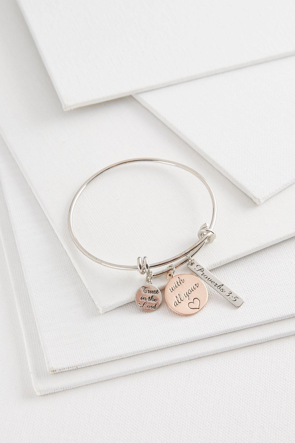 Trust In The Lord Charm Bracelet