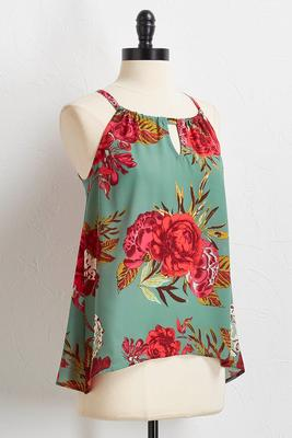 sage floral top