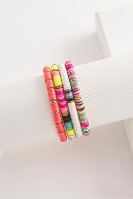 neon sequin stretch bracelet set