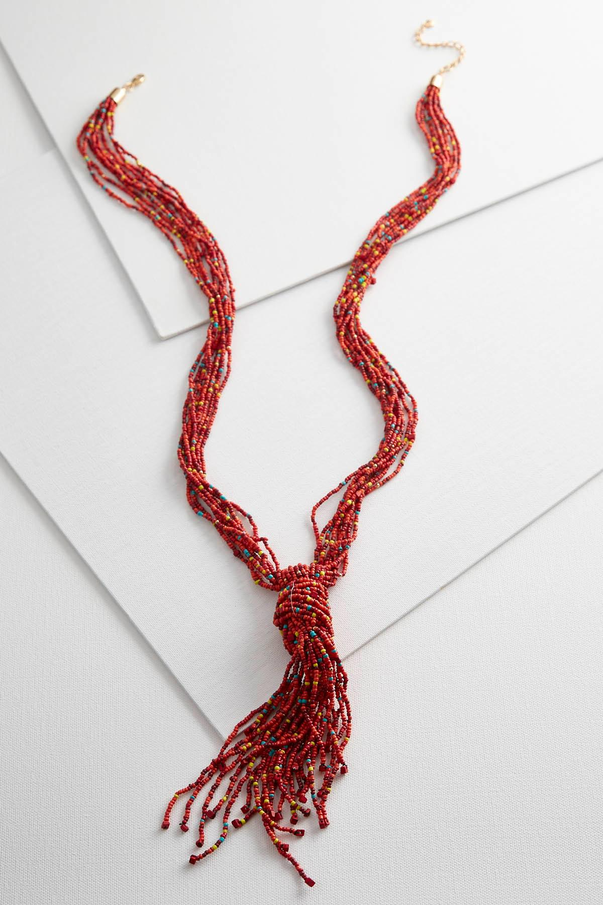 Knotted Seed Bead Necklace