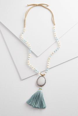 semi-precious stone pendant necklace