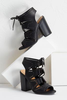 studded lace up shooties