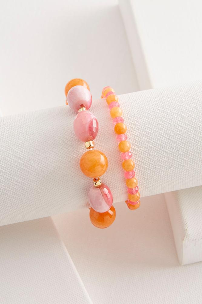 Semi- Precious Stretch Bracelet Set