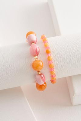 semi-precious stretch bracelet set