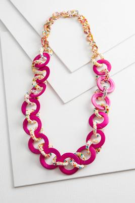 paint splatter link necklace